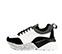 Ref. 4031 Sneaker piel blanca combinada con serraje negro. Cordones negros. Suela combinada en negro y blanco con altura trasera de 6 cm. - Ítem3