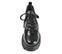 Ref. 4038 Sneaker piel negra con cordones al tono. Altura plataforma trasera 6 cm y plataforma delantera 5 cm. - Ítem2