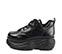Ref. 4038 Sneaker piel negra con cordones al tono. Altura plataforma trasera 6 cm y plataforma delantera 5 cm. - Ítem3