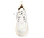 Ref. 4039 Sneaker piel blanca con cordones al tono. Altura plataforma trasera 6 cm y plataforma delantera 5 cm. - Ítem2
