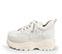 Ref. 4039 Sneaker piel blanca con cordones al tono. Altura plataforma trasera 6 cm y plataforma delantera 5 cm. - Ítem3
