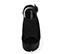 Ref. 4047 Sandalia serraje negro con hebilla lateral plateada. Altura tacón 10.5 cm y plataforma delantera 4.5 cm. - Ítem2