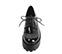 Ref. 4049 Blucher florenty negro con cordones. Altura plataforma trasera 5.5 cm y plataforma delantera 4 cm. - Ítem2