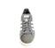 Ref. 4051 Sneaker piel blanca combinada con serraje beige. Dos velcros. Suela combinada en negro y blanco con altura trasera de 6 cm. - Ítem2