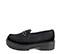 Ref. 4068 Zapato mocasín serraje negro con detalle tachas en el antifaz. Suela dentada. Tacón de 4.5 cm y plataforma de 3 cm. - Ítem3