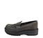 Ref. 4076 Zapato mocasín serraje gris con detalle tachas en el antifaz. Suela dentada. Tacón de 4.5 cm y plataforma de 3 cm. - Ítem3