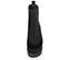 Ref. 4095 Botín serraje negro con elásticos laterales. Plataforma combinada en serraje y goma negra. Tacón de 9 cm y plataforma delantera de 7.5 cm. Caña de 13.5 cm. - Ítem2