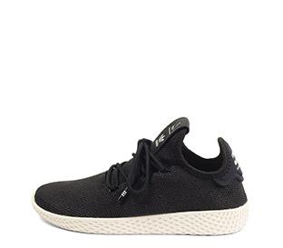 Ref. 4119 Adidas PW-TENNIS tela negra. Cordones al tono. Suela blanca.