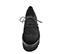 Ref. 4121 Blucher serraje negro con picado y cordones al tono. Plataforma negra dentada. Altura delantera 3.5 cm y plataforma trasera 5 cm. - Ítem2