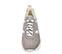 Ref. 4124 Sneaker serraje taupe combinado con tela y piel blanca. Altura plataforma trasera 5 cm y plataforma delantera 3 cm. - Ítem2