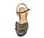 Ref. 4129 Sandalia brillante oro viejo con pala cruzada y pulsera al tobillo. Hebilla dorada. Tacón de 10.5 cm y plataforma delantera de 3 cm. - Ítem2