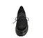 Ref. 4143 Blucher serraje negro con cordones y picado. Tacón de 4 cm y plataforma delantera 2.5 cm. Suela dentada. - Ítem2