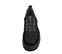 Ref. 4160 Sneaker serraje negro con cordones al tono. Suela dentada. Tacón de 5 cm y plataforma delantera de 4 cm. - Ítem2