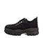 Ref. 4160 Sneaker serraje negro con cordones al tono. Suela dentada. Tacón de 5 cm y plataforma delantera de 4 cm. - Ítem3