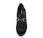 Ref. 4170 Zapato tipo mocasín serraje negro. Detalle dorado en el empeine. Altura tacón 8 cm y plataforma delantera de 2.5 cm. - Ítem2