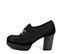 Ref. 4170 Zapato tipo mocasín serraje negro. Detalle dorado en el empeine. Altura tacón 8 cm y plataforma delantera de 2.5 cm. - Ítem3