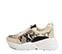 Ref. 4204 Sneaker serraje beige con piel grabado serpiente. Cordones blancos. - Ítem3