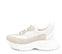Ref. 4216 Sneaker serraje visón combinado con tela y piel blanca. Altura plataforma trasera 5 cm y plataforma delantera 3 cm. - Ítem3