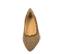 Ref. 4218 Manoletina serraje visón con detalle tacheado en plata. Acabado en forma de ondas. Parte delantera acabada en punta. - Ítem2