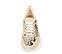 Ref. 4223 Sneaker serraje beige combinada con piel estampado serpiente. Cordones blancos. Altura tacón 6 cm y plataforma delantera 3 cm. - Ítem2