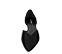 Ref. 4224 Zapato plano ante negro. Detalle cruzado en la parte delantera. Acabado en punta. Laterales descubiertos. - Ítem2