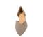 Ref. 4225 Zapato plano ante ceniza. Detalle cruzado en la parte delantera. Acabado en punta. Laterales descubiertos. - Ítem2