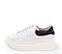 Ref. 4226 Sneaker piel blanca con detalle trasero en serraje negro. Altura plataforma trasera 6 cm y plataforma delantera 4 cm. - Ítem3
