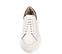 Ref. 4227 Sneaker piel blanca con detalle trasero en serraje piedra. Altura plataforma trasera 6 cm y plataforma delantera 4 cm. - Ítem2