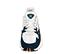 Ref. 4229 Adidas Falcon W combinada tela blanca, serraje azul marino y piel roja. Suela blanca y lila. Cordones blancos. - Ítem2