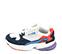 Ref. 4229 Adidas Falcon W combinada tela blanca, serraje azul marino y piel roja. Suela blanca y lila. Cordones blancos. - Ítem3