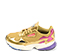 Ref. 4230 Adidas Falcon W combinada tela y piel oro. Detalles en rosa y lila. Cordones dorados. - Ítem3