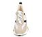 Ref. 4234 Sneaker serraje beige combinado con tela blanca y piel negra. Altura plataforma trasera 5 cm y plataforma delantera 3 cm. - Ítem2