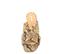 Ref. 4239 Sandalia piel con estampado serpiente beige. Pala cruzada. Altura tacón 6 cm y sin plataforma delantera. - Ítem2