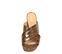 Ref. 4241 Sandalia piel con estampado coco marrón. Pala cruzada. Altura tacón 6 cm y sin plataforma delantera. - Ítem2