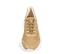 Ref. 4243 Sneaker combinada con serraje y piel beige. Altura plataforma trasera 6 cm y plataforma delantera 3 cm. Suela blanca. - Ítem2