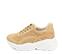 Ref. 4243 Sneaker combinada con serraje y piel beige. Altura plataforma trasera 6 cm y plataforma delantera 3 cm. Suela blanca. - Ítem3
