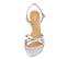 Ref. 4248 Sandalia piel plata con detalle nudo en la parte delantera y pulsera al tobillo con hebilla plata. Altura tacón 8 cm y sin plataforma delantera. - Ítem2