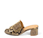 Ref. 4253 Sandalia con grabado serpiente en tonos beige y marrones. Altura tacón 6 cm y sin plataforma delantera. - Ítem3