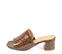 Ref. 4254 Sandalia piel con grabado coco marrón. Altura tacón 6 cm y sin plataforma delantera. - Ítem3