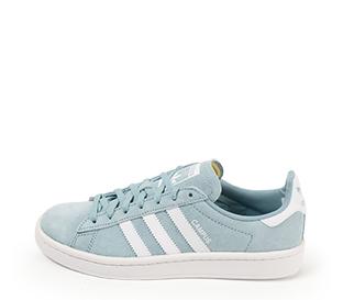 Ref. 4257 Adidas Campus serraje azul con detalles en blanco. Cordones al tono.