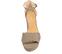 Ref. 4260 Sandalia ante ceniza con pala y pulsera al tobillo. Detalle de ondas. Altura tacón 10 cm y plataforma delantera de 3 cm. - Ítem2
