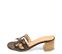 Ref. 4262 Sandalia piel marrón con grabado coco. Altura tacón 6 cm y sin plataforma delantera. Pala en forma de H. - Ítem3