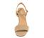 Ref. 4266 Sandalia ante beige con pala y pulsera al tobillo. Hebilla dorada. Tacón metalizado de 8 cm. Sin plataforma delantera. - Ítem2