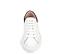 Ref. 4272 Sneaker piel blanca con detalle trasero en serraje negro. Cordones blancos. Altura plataforma trasera 3.5 cm y delantera de 2 cm. - Ítem2