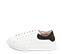 Ref. 4272 Sneaker piel blanca con detalle trasero en serraje negro. Cordones blancos. Altura plataforma trasera 3.5 cm y delantera de 2 cm. - Ítem3