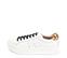 Ref. 4272 Sneaker piel blanca con detalle trasero en leopardo. Cordones negros. Altura plataforma 4 cm. - Ítem3