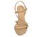 Ref. 4274 Sandalia ante beige con tiras cruzadas en el empeine. Hebilla lateral dorada. Altura tacón 8 cm y sin plataforma delantera. - Ítem2