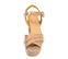 Ref. 4277 Sandalia piel beige con estampado coco. Pala cruzada. Pulsera al tobillo con hebilla forrada. Altura tacón 9.5 cm y plataforma delantera de 4 cm. - Ítem2