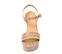 Ref. 4281 Sandalia piel beige con grabado de cocodrilo. Pulsera al tobillo con hebilla dorada. Altura tacón 12 cm y plataforma delantera 5 cm. - Ítem2