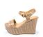 Ref. 4281 Sandalia piel beige con grabado de cocodrilo. Pulsera al tobillo con hebilla dorada. Altura tacón 12 cm y plataforma delantera 5 cm. - Ítem3